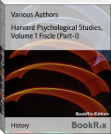 Harvard Psychological Studies, Volume 1 Fiscle (Part-I)