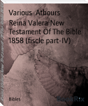 Reina Valera New Testament Of The Bible 1858 (fiscle part-IV)