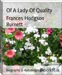 Of A Lady Of Quality