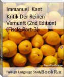 Kritik Der Reinen Vernunft (2nd Edition) (Fiscle Part-3)