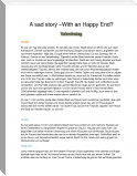 A sad Story - With an Happy End ?