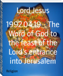 1992.04.19 - The Word of God to the feast of the Lord's entrance into Jerusalem