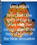 1997.12.12 - The Word of God six years after the consecration of the Holy of Holies of the New Jerusalem