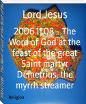 2006.11.08 - The Word of God at the feast of the great Saint martyr Demetrius, the myrrh streamer