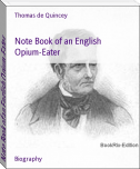 Note Book of an English Opium-Eater