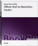 Offener Brief an Maximilian Harden