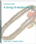 A string of wooden beads