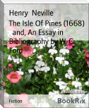 The Isle Of Pines (1668)     and, An Essay in Bibliography by W. C. Ford