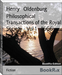 Philosophical Transactions of the Royal Society - Vol 1 - 1666