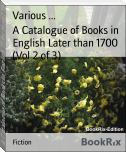 A Catalogue of Books in English Later than 1700 (Vol 2 of 3)