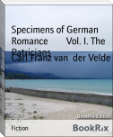 Specimens of German Romance        Vol. I. The Patricians