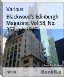 Blackwood's Edinburgh Magazine, Vol 58, No. 357, July 1845