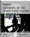 CONTENTS  OF THE  THIRTY-THIRD VOLUME.  JUNE, 1848, TO JANUARY, 1849.