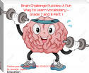 Brain Challenge Puzzles: A Fun Way to Learn Vocabulary – Grade 7 and 8 Part 1