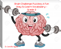 Brain Challenge Puzzles: A Fun Way to Learn Vocabulary – Grade 2