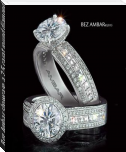 Bez Ambar showcase a 2.5 carat round diamond with blaze cut diamonds and pave diamonds.