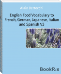 English Food Vocabulary to French, German, Japanese, Italian and Spanish V3