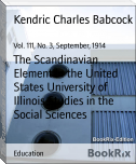 The Scandinavian Element in the United States University of Illinois Studies in the Social Sciences