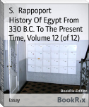 History Of Egypt From 330 B.C. To The Present Time, Volume 12 (of 12)