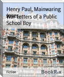 War Letters of a Public School Boy