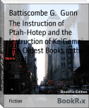 The Instruction of Ptah-Hotep and the Instruction of Ke'Gemni The Oldest Books in the World