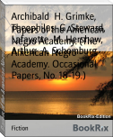 Papers of the American Negro Academy. (The American Negro Academy. Occasional Papers, No. 18-19.)