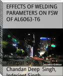 EFFECTS OF WELDING PARAMETERS ON FSW OF AL6063-T6