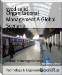 Organisational Management A Global Scenario