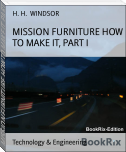 MISSION FURNITURE HOW TO MAKE IT, PART I