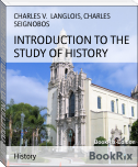 INTRODUCTION TO THE STUDY OF HISTORY