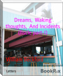 Dreams,  Waking thoughts,  And Incidents (fiscle part-I)