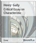 Critical Essay on Characteristic