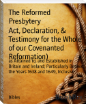 Act, Declaration, & Testimony for the Whole of our Covenanted Reformation)