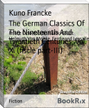 The German Classics Of The Nineteenth And Twentieth Centuries, Vol. X. (fiscle part-III)