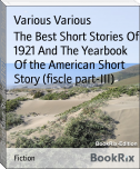 The Best Short Stories Of 1921 And The Yearbook Of the American Short Story (fiscle part-III)