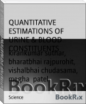 QUANTITATIVE ESTIMATIONS OF URINE & BLOOD CONSTITUENTS