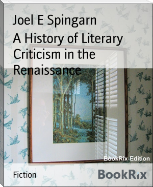 A History of Literary Criticism in the Renaissance