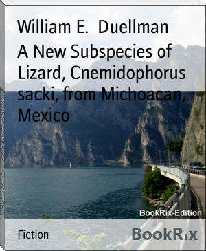 A New Subspecies of Lizard, Cnemidophorus sacki, from Michoacan, Mexico